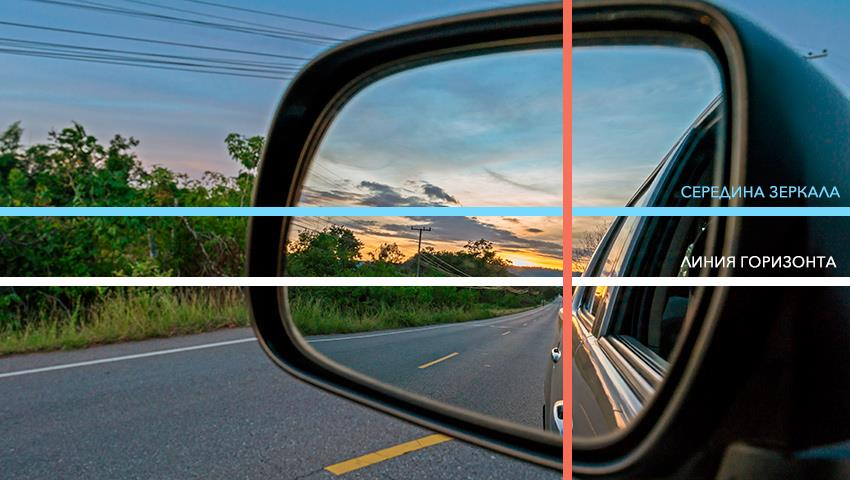 как настроить зеркала в машине фото большие площади виноградная